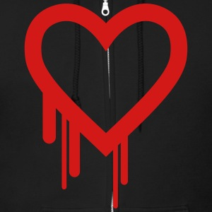 BLEEDING HEART Zip Hoodies & Jackets - Men's Zip Hoodie