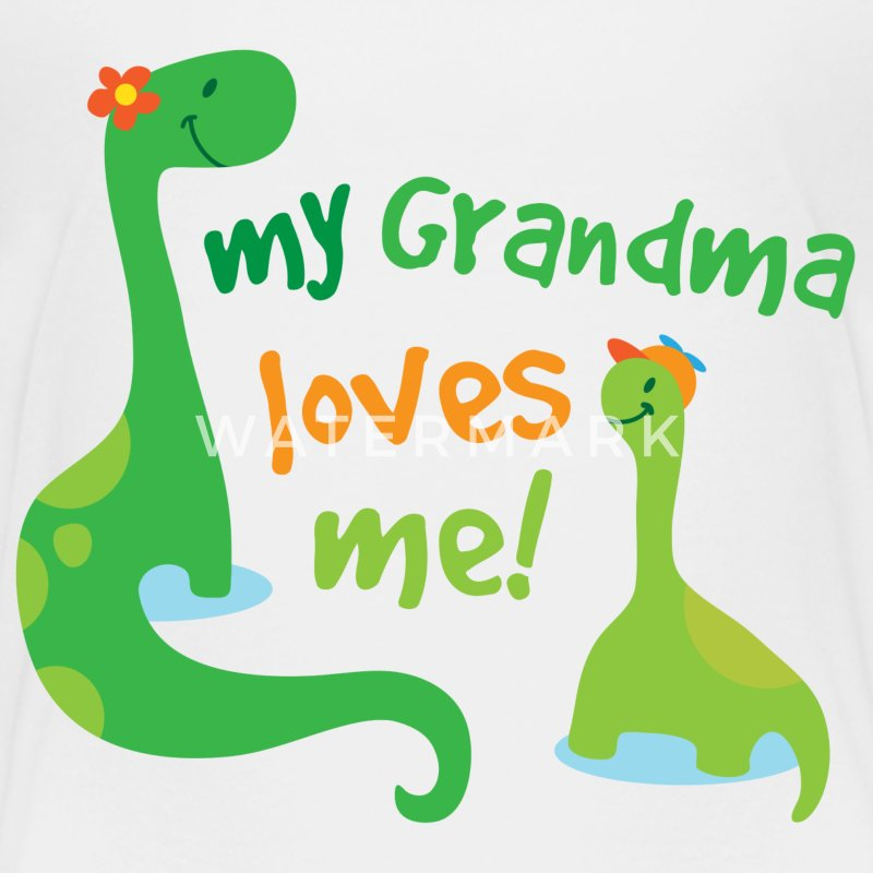 My Grandma Loves Me Dinosaur Baby & Toddler Shirts - Toddler Premium T-Shirt