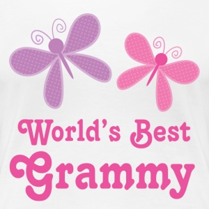 Worlds Best Grammy butterfly Women's T-Shirts - Women's Premium T-Shirt