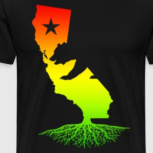 California Roots (Rasta surfer colors) - Men's Premium T-Shirt