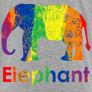 Cute, Fun and Colorful Abstract Rainbow Elephant Baby & Toddler Shirts - Toddler Premium T-Shirt