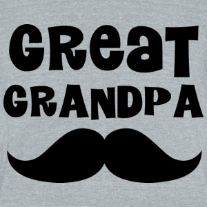 Great Grandpa mustache T-Shirts - Unisex Tri-Blend T-Shirt by American Apparel