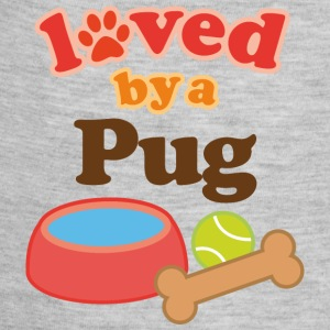 Loved By A Pug Kids' Shirts - Baby Contrast One Piece