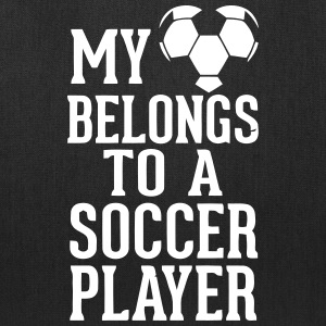 MY HEART BELONGS TO A SOCCER PLAYER Bags & backpacks - Tote Bag