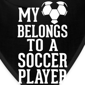 MY HEART BELONGS TO A SOCCER PLAYER Caps - Bandana