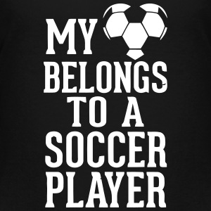 MY HEART BELONGS TO A SOCCER PLAYER Kids' Shirts - Kids' Premium T-Shirt