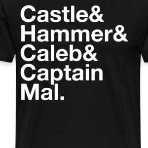 NATHAN FILLION and His Many Characters  - Men's Premium T-Shirt
