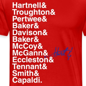 DOCTOR WHO THE DOCTORS' NAMES - Men's Premium T-Shirt