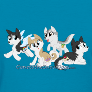 Design ~ My Little Husky - Women's T-Shirt