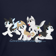 Design ~ My Little Husky - Women's Long Sleeve