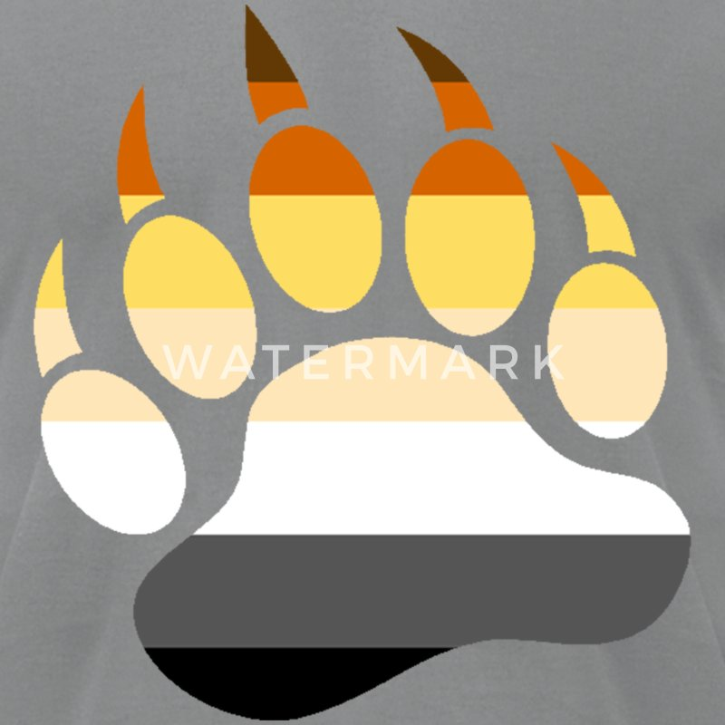 Gay Bear Pride Flag Bear Paw - Men's T-Shirt by American Apparel