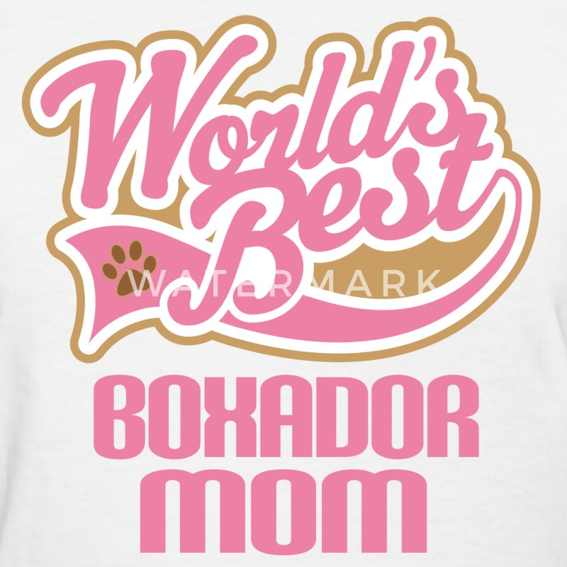 Boxador Dog Mom Women's T-Shirts - Women's T-Shirt