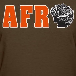 Afro (Orange Text) - Women's T-Shirt