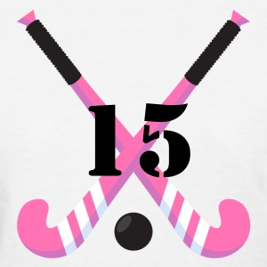Field Hockey Personalized Pink Women's T-Shirts - Women's T-Shirt