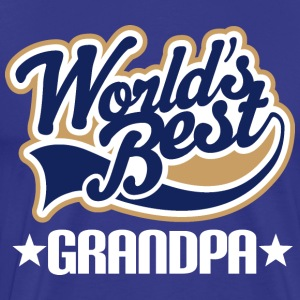 Worlds Best Grandpa T-Shirts - Men's Premium T-Shirt