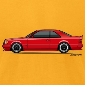 Mercedes W124 300CE AMG Red T-Shirts - Men's T-Shirt by American Apparel