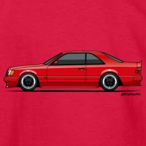 Mercedes W124 300CE AMG Red Kids' Shirts - Kids' Long Sleeve T-Shirt