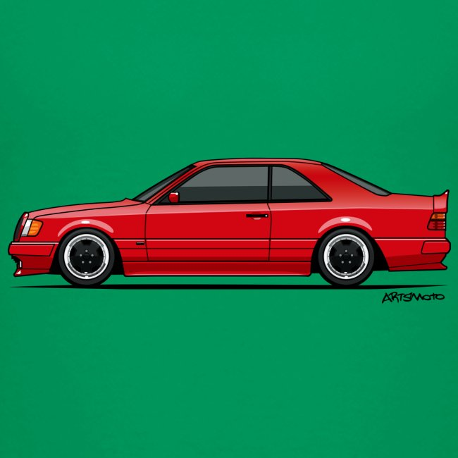 Mercedes Benz W124 300CE Coupe AMG Widebody Red | Toddler Premium T-Shirt
