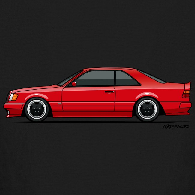 Mercedes Benz W124 300CE Coupe AMG Widebody Red | Kids' Long Sleeve T-Shirt