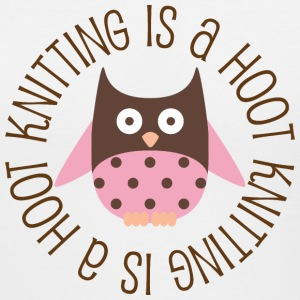 Knitting Is A Hoot Women's T-Shirts - Women's V-Neck T-Shirt