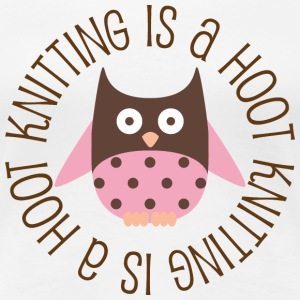Knitting Is A Hoot Women's T-Shirts - Women's Premium T-Shirt