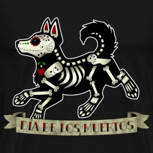 Day of the Dead Puppy - Men's Premium T-Shirt