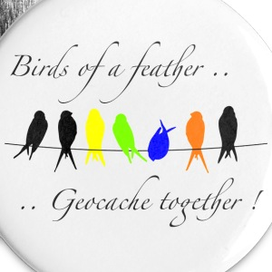 GeoBirds of a Feather - Large Buttons