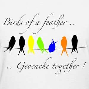 GeoBirds of a Feather - W TShirt - Women's T-Shirt