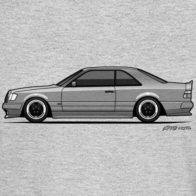 Mercedes Benz W124 300CE Coupe AMG Widebody Ghost / Transparent | Men's  Long Sleeve T-Shirt