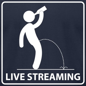 Live Streaming (American Apparel) - Men's T-Shirt by American Apparel