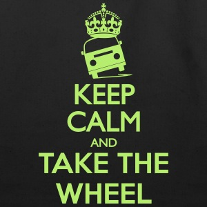 Keep Calm And Take The Wheel - Eco-Friendly Cotton Tote