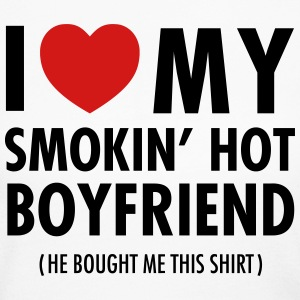 I Love My Smokin' Hot Boyfriend (He Bought Me...) Long Sleeve Shirts - Women's Long Sleeve Jersey T-Shirt