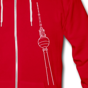 Berlin TV Tower Zip Hoodies & Jackets - Unisex Fleece Zip Hoodie by American Apparel