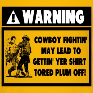 Warning Label for Cowboy Fights Kids' Shirts - Kids' Premium T-Shirt