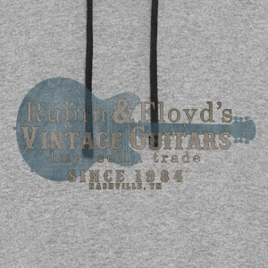 vintage guitars nashville Hoodies - Colorblock Hoodie