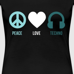 Techno peace love techno Women's T-Shirts - Women's Premium T-Shirt