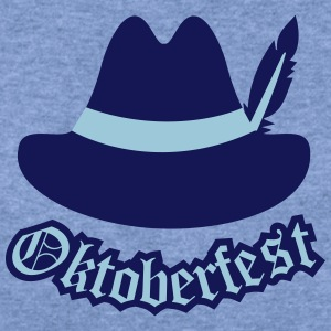 Oktoberfest (Hipster Hut) Outfit / Tracht / Wiesn Long Sleeve Shirts - Women's Wideneck Sweatshirt