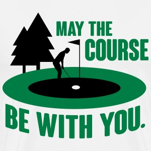 Golf: May the course be with you T-Shirts - Men's Premium T-Shirt
