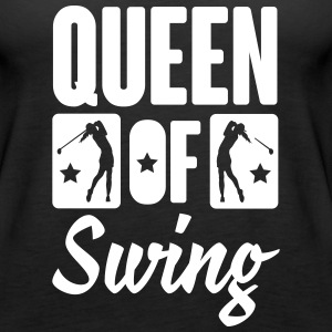 Golf: Queen of swing Tanks - Women's Premium Tank Top