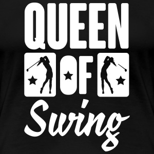 Golf: Queen of swing Women's T-Shirts - Women's Premium T-Shirt
