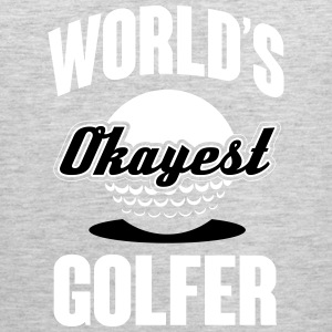 World's okayest Golfer Tank Tops - Men's Premium Tank