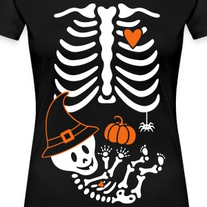 Witch Maternity Skeleton Women's T-Shirts - Women's Premium T-Shirt
