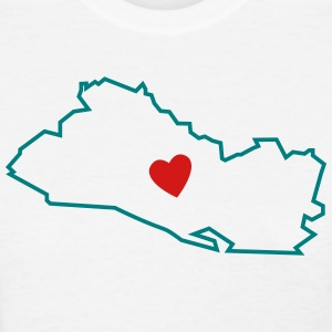 I love El Salvador Map - Women's T-Shirt