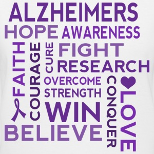 Alzheimers Awareness Walk Women's T-Shirts - Women's V-Neck T-Shirt