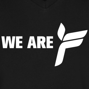 Ferry Corsten 'We Are F' shirt black - Men's V-Neck T-Shirt by Canvas