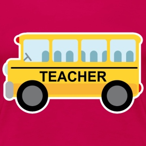 Teacher School Bus Women's T-Shirts - Women's Premium T-Shirt