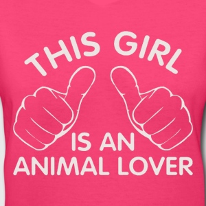 animal lover Women's T-Shirts - Women's V-Neck T-Shirt
