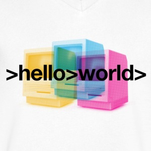 Ferry Corsten 'Hello World' V-neck Men - Men's V-Neck T-Shirt by Canvas