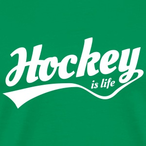 Hockey is life retro T-Shirts - Men's Premium T-Shirt