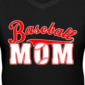 Baseball Mom Shirts - Women's V-Neck T-Shirt